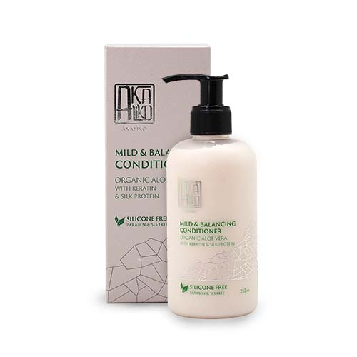 Organic Aloe Vera with Keratin and Silk Protein Conditioner