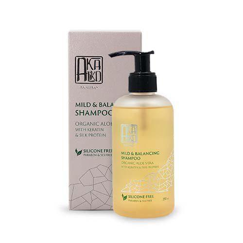 Organic Aloe Vera with Keratin and Silk Protein Shampoo